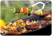 Mad og opskrifter efter bestemte formål så som skovture, galla, madpakke, grill m.m.